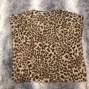 Charlotte Russe leopard blouse xs